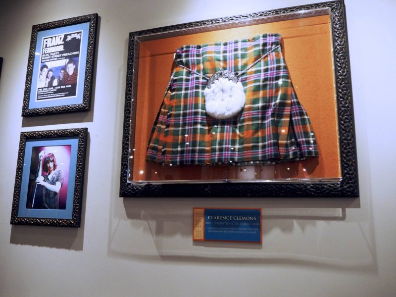 Hard Rock Cafe Glasgow restaurant review - Clarence Clemons' kilt