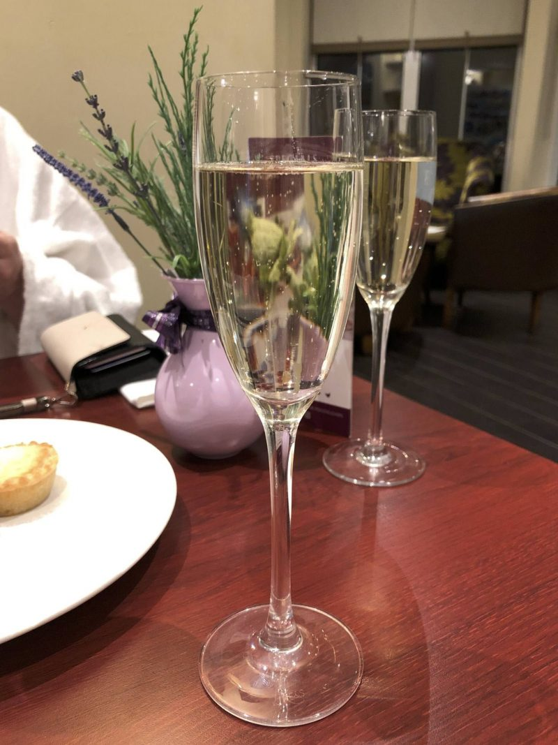 Macdonald Crutherland House festive spa day - mince pies and fizz