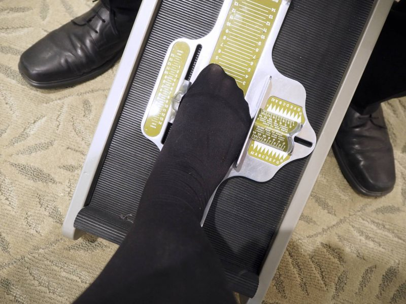 Hotter Glasgow new shop review - getting my feet measured